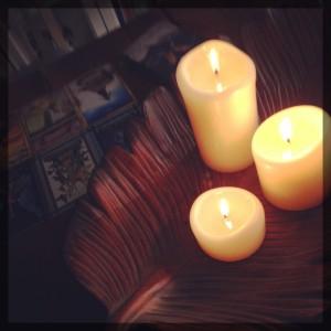 November Reading Candles